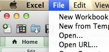 open the file menu