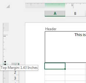 how to add header in excel 2013