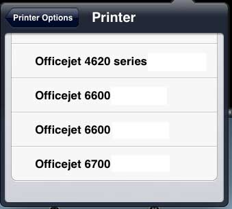 select your printer