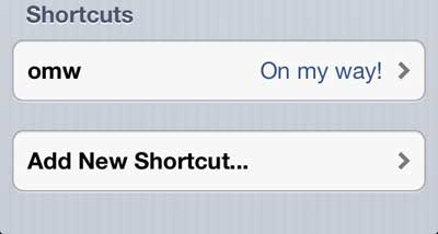 touch the add new shortcut button