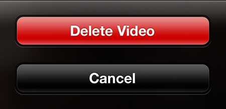 how to delete a recorded video on the iphone 5