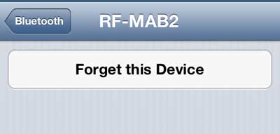 how to forget a bluetooth device on the iphone 5
