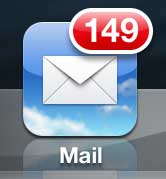 open the iphone mail app