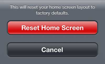 how to reset the home screen on the iphone 5