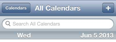 how to search the calendar on the iphone 5