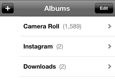select the album containing your picture