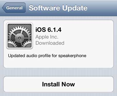 how to update the software on the iphone 5