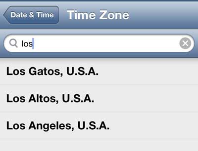 how to set the time zone on the iphone 5