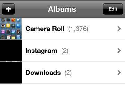 select the camera roll option