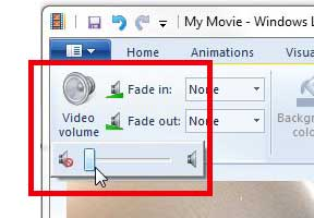 how to remove audio from an iphone video with windows live movie maker