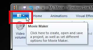 click the movie maker tab