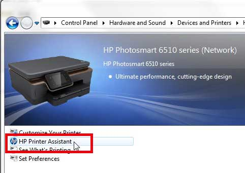 double-click the hp printer assistant