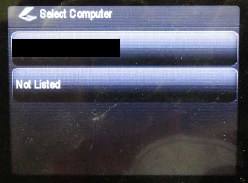 select the computer to which you want to scan the item