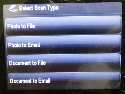 select the scan type