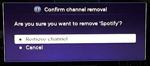 how to delete a roku channel