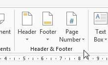 how to insert page numbers in word 2013