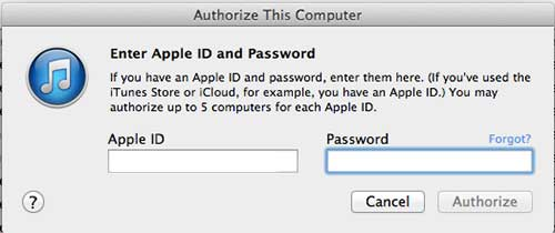 enter your apple id and password