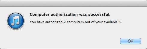 how to authorize a computer in itunes on the mac