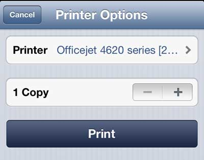 how to print a web page with the iphone 5