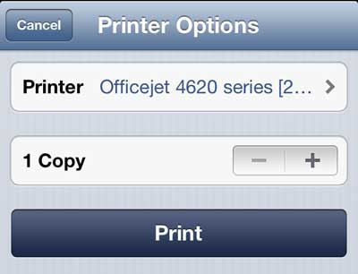 touch the print button