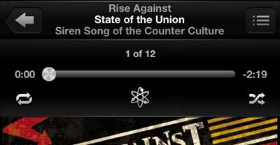 how to stop repeating songs on the iphone 5