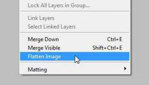 how to flatten an image in photoshop cs5
