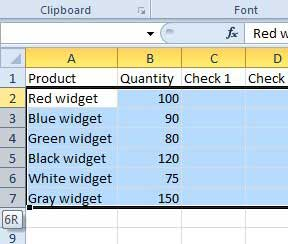 select the rows for which you want to change the height