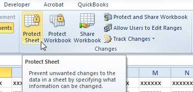 how to protect a worksheet in excel 2010