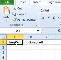 select the cell you want to edit
