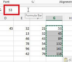 cell formula values converted to numerical values