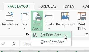 how to print specific rows in excel 2013