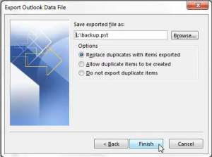 How to Export Emails to a Flash Drive in Outlook 2013