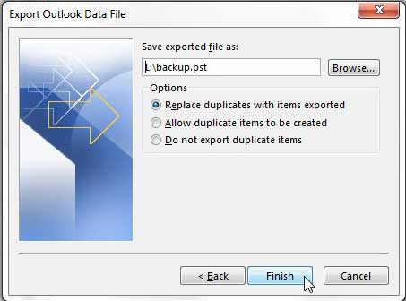 how to export emails in outlook 2013