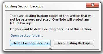choose how to handle your existing backups