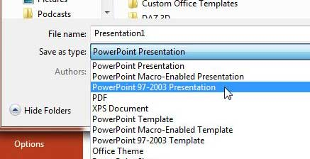How to save as ppt by default in powerpoint 2013 solve your tech save as powerpoint 2003 toneelgroepblik Choice Image