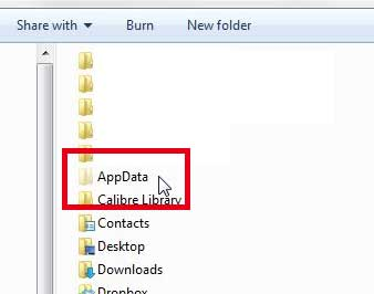 open the appdata folder