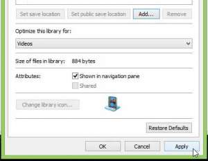 how to add a folder to the video library in windows 8