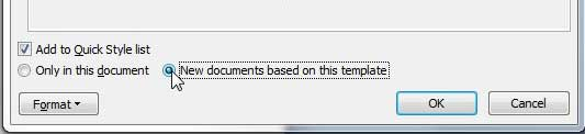 check the new documents based on this template option