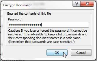 password protect word document on iphone
