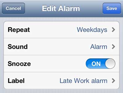 how to edit the alarm sound on the iphone 5