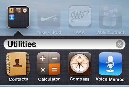 tap and hold the contacts icon