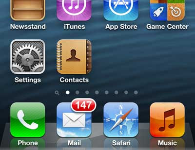 how to add a contacts icon to the iphone 5 home screen