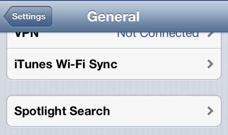 how to customize spotlight search on the iphone 5