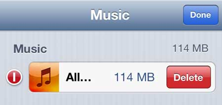 how to delete all songs on the iphone 5