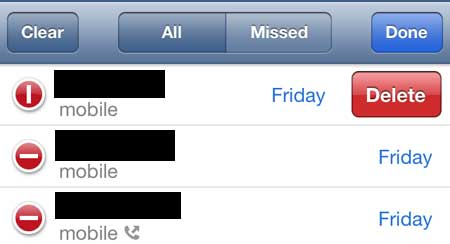 how to see call history on iphone 5