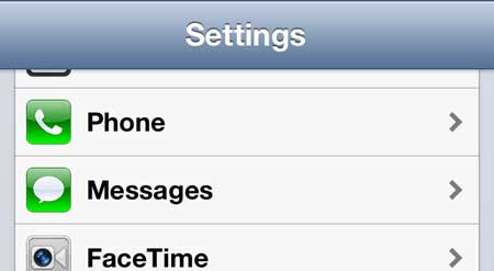 select the messages option