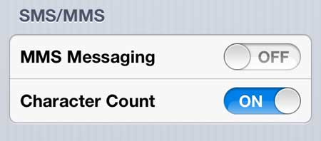how to disable the camera button in Messages on the iPhone 5