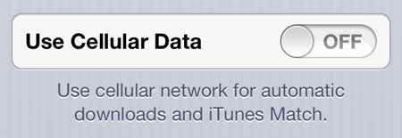 how to prevent itunes downloads over cellular network on iphone 5