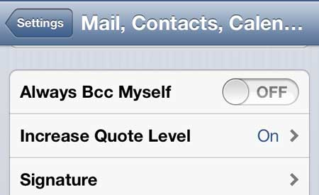 how to stop sending copies of emails to yourself on the iphone 5