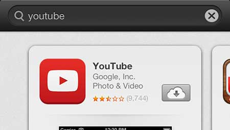 install the youtube app